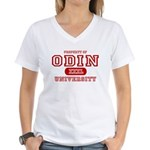 Odin University T-Shirts Women's V-Neck T-Shirt