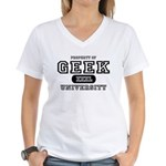 Geek University Women's V-Neck T-Shirt