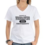 Woodcarving University Women's V-Neck T-Shirt