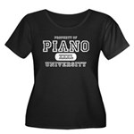 Piano University Women's Plus Size Scoop Neck Dark