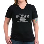 Piano University Women's V-Neck Dark T-Shirt