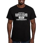 Santa's Helper University Men's Fitted T-Shirt (da