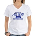 .40 S&W University Women's V-Neck T-Shirt