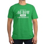 .40 S&W University Men's Fitted T-Shirt (dark)