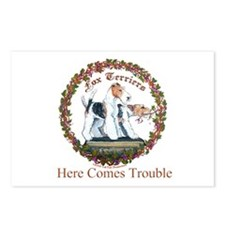 Fox Terrier Trouble Postcards (Package of 8)
