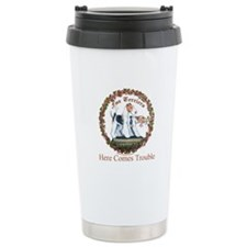 Fox Terrier Trouble Ceramic Travel Mug