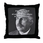 Nuclear Physics: Rutherford Throw Pillow