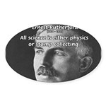 Nuclear Physics: Rutherford Oval Sticker