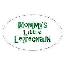 Mommy's Leprechaun Oval Decal