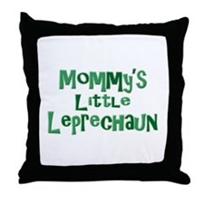 Mommy's Leprechaun Throw Pillow