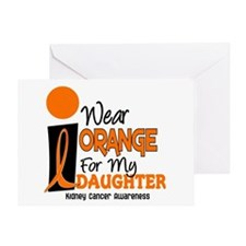 I Wear Orange For My Daughter 9 KC Greeting Card