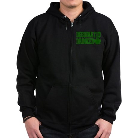 Designated Drinker Zip Hoodie (dark)
