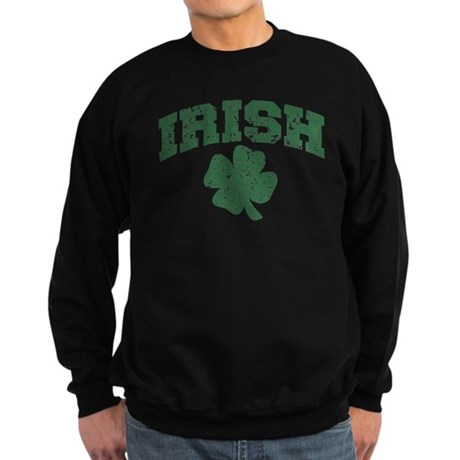 Worn Irish Shamrock Sweatshirt (dark)