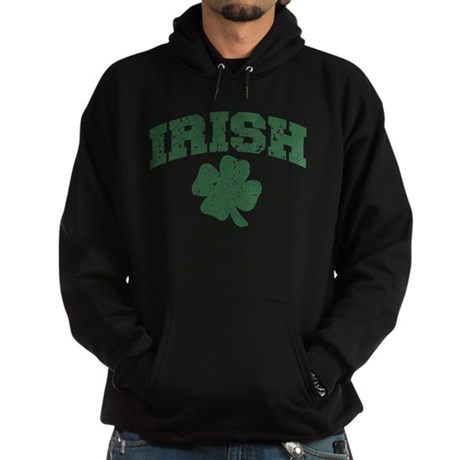 Worn Irish Shamrock Hoodie (dark)