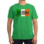 Irish Flag distressed Men's Fitted T-Shirt (dark)