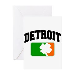 Detroit Shamrock Greeting Card