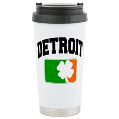 Detroit Shamrock Ceramic Travel Mug