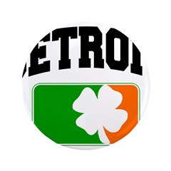 Detroit Shamrock 3.5&quot; Button