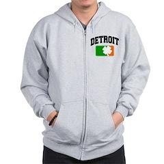 Detroit Shamrock Zip Hoodie