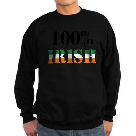 100 Percent Irish Sweatshirt (dark)