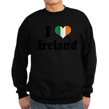 I Love Ireland Tricolor Sweatshirt (dark)