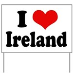 I Heart Ireland Love Yard Sign