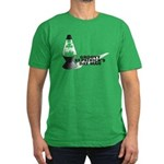 Groovy St. Patrick's Day Men's Fitted T-Shirt (dar