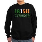 Irish and Proud of It 3D Sweatshirt (dark)