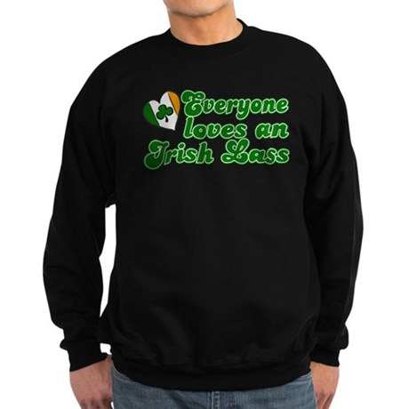 Everyone loves an Irish Lass Sweatshirt (dark)