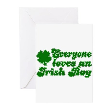 Everyone Loves an Irish Boy Greeting Cards (Pk of