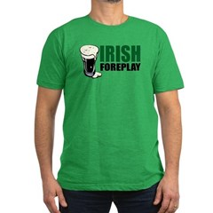 Irish Foreplay Green Men's Fitted T-Shirt (dark)