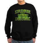 Irish I Were Drunk Shamrock Sweatshirt (dark)