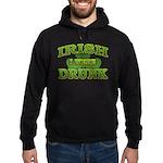 Irish I Were Drunk Shamrock Hoodie (dark)