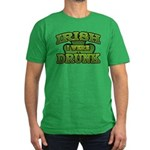 Irish I Were Drunk Shamrock Men's Fitted T-Shirt (