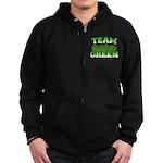 Team Green Zip Hoodie (dark)