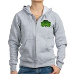 Irish Shamrock Shamrock Women's Zip Hoodie