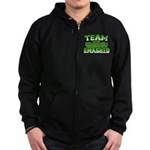 Team Smashed Zip Hoodie (dark)