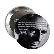 "Philosopher Bertrand Russell 2.25"" Button (10 pack"