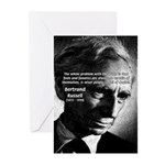 Philosopher Bertrand Russell Greeting Cards (Packa