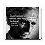 Philosopher Bertrand Russell Mousepad