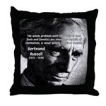 Philosopher Bertrand Russell Throw Pillow