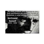 Philosopher Bertrand Russell Rectangle Magnet