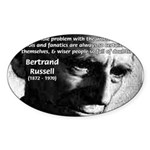 Philosopher Bertrand Russell Oval Sticker
