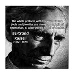 Philosopher Bertrand Russell Tile Coaster