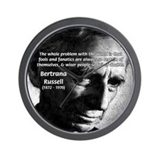 Philosopher Bertrand Russell Wall Clock