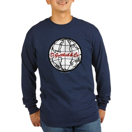 "Gottlieb® ""World"" Logo Long Sleeve Dark T-Shir"