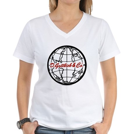 "Gottlieb® ""World"" Logo Women's V-Neck T-Shirt"