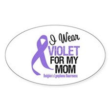 I Wear Violet For My Mom Oval Sticker (10 pk)