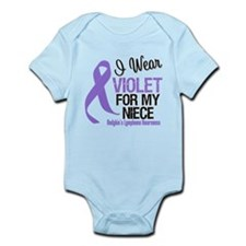 I Wear Violet For Niece Infant Bodysuit