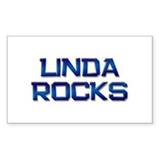 linda rocks Rectangle Decal
